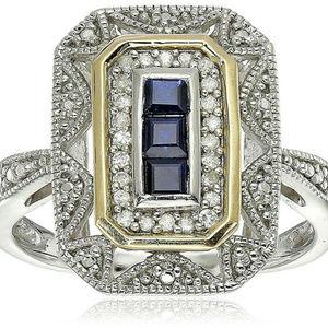 NWOT Beautiful Blue Topaz Art Deco Ring (Sz. 7)